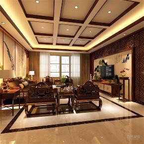 客厅图片来自阳光放扉er在力天装饰 天鹅湖 261㎡ 新中式的分享