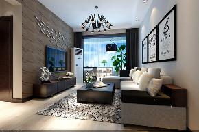 客厅图片来自我是小样在融城东海三室92平现代简约风格的分享