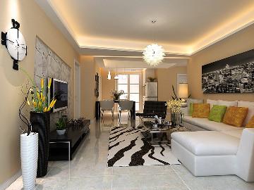 中天锦庭两室106平现代简约风格