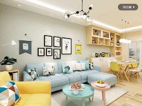 简约 欧式 客厅图片来自优家馆装饰_小余在130平方-北欧风格尽显自然优雅的分享