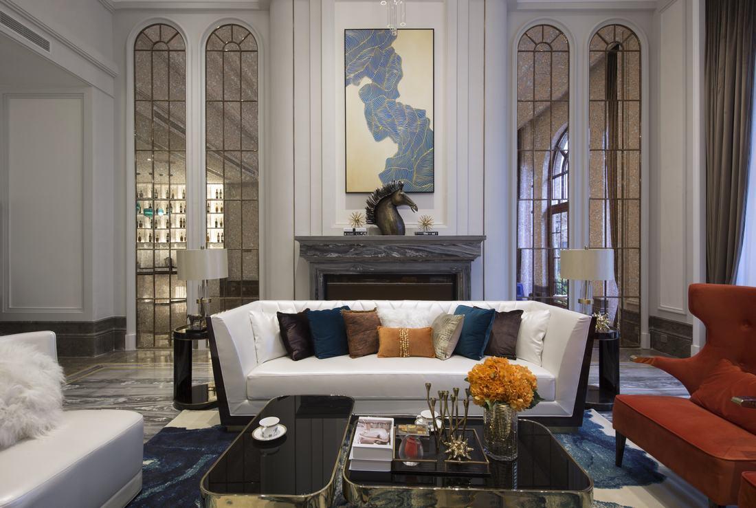 简约 美式 别墅 客厅图片来自别墅设计师杨洋在轻奢雅致美式风格别墅图片