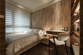 港式 三居 大户型 复式 跃层 80后 小资 卧室图片来自高度国际姚吉智在160平米港式风高级灰原木质感的分享