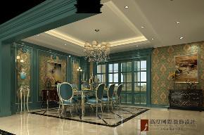 美式 现代 别墅 大户型 复式 跃层 80后 小资 餐厅图片来自高度国际姚吉智在燕西华府310平米美式现代叠拼的分享