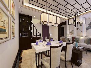 餐厅图片来自阳光放扉er在力天装饰 津南新城 61㎡ 中式的分享