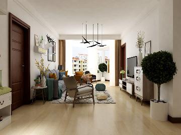 和平示范家园两室户型现代风格