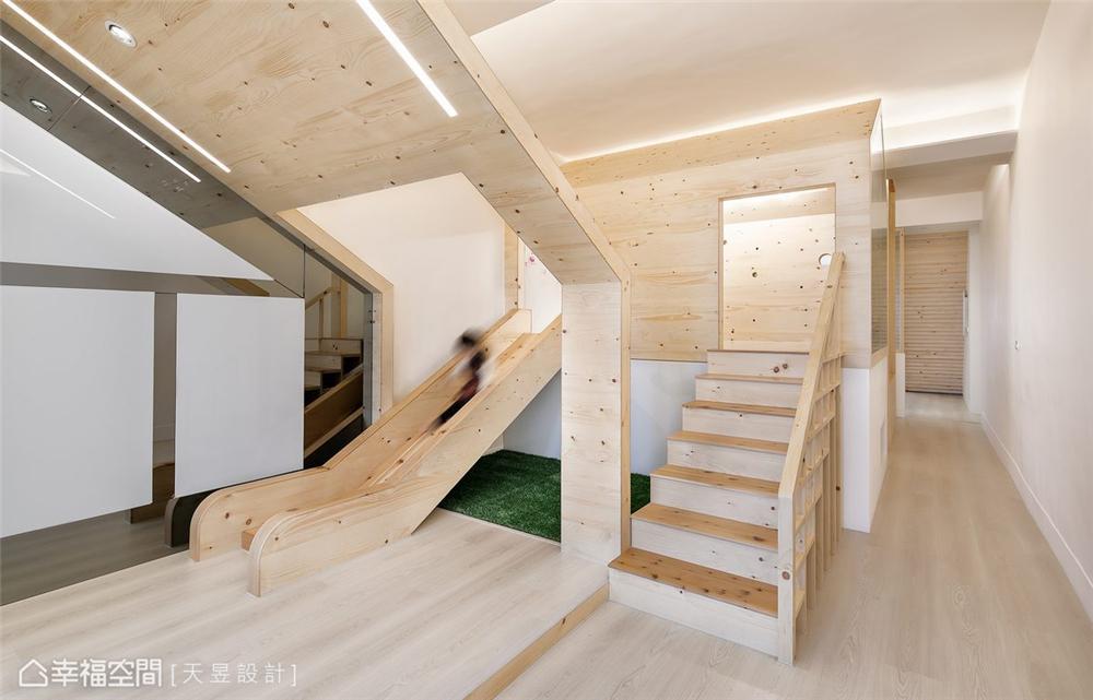 现代风格 别墅 装修设计 旧房改造 楼梯图片来自幸福空间在218平!