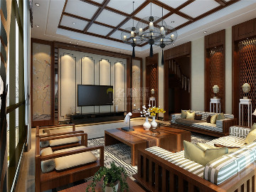星河丹堤-新中式风格-别墅
