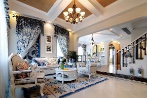 地中海 别墅 跃层 复式 大户型 80后 小资 客厅图片来自高度国际姚吉智在223平米地中海蓝充满阳光的色彩的分享