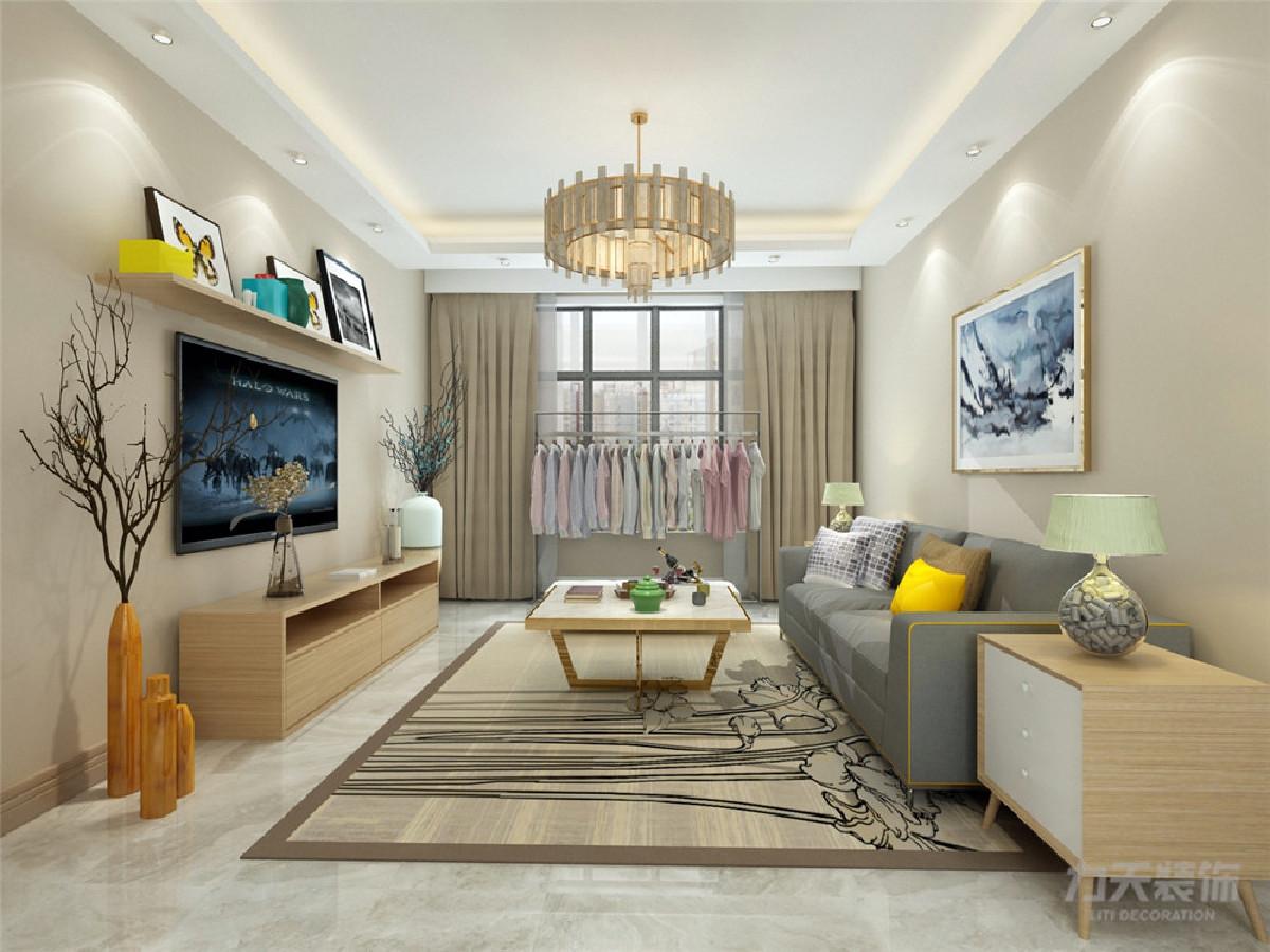 家装墙面乳胶漆_装修效果图 客厅作为待客区域,要稳重,用白色地砖,墙体黄色乳胶漆使整