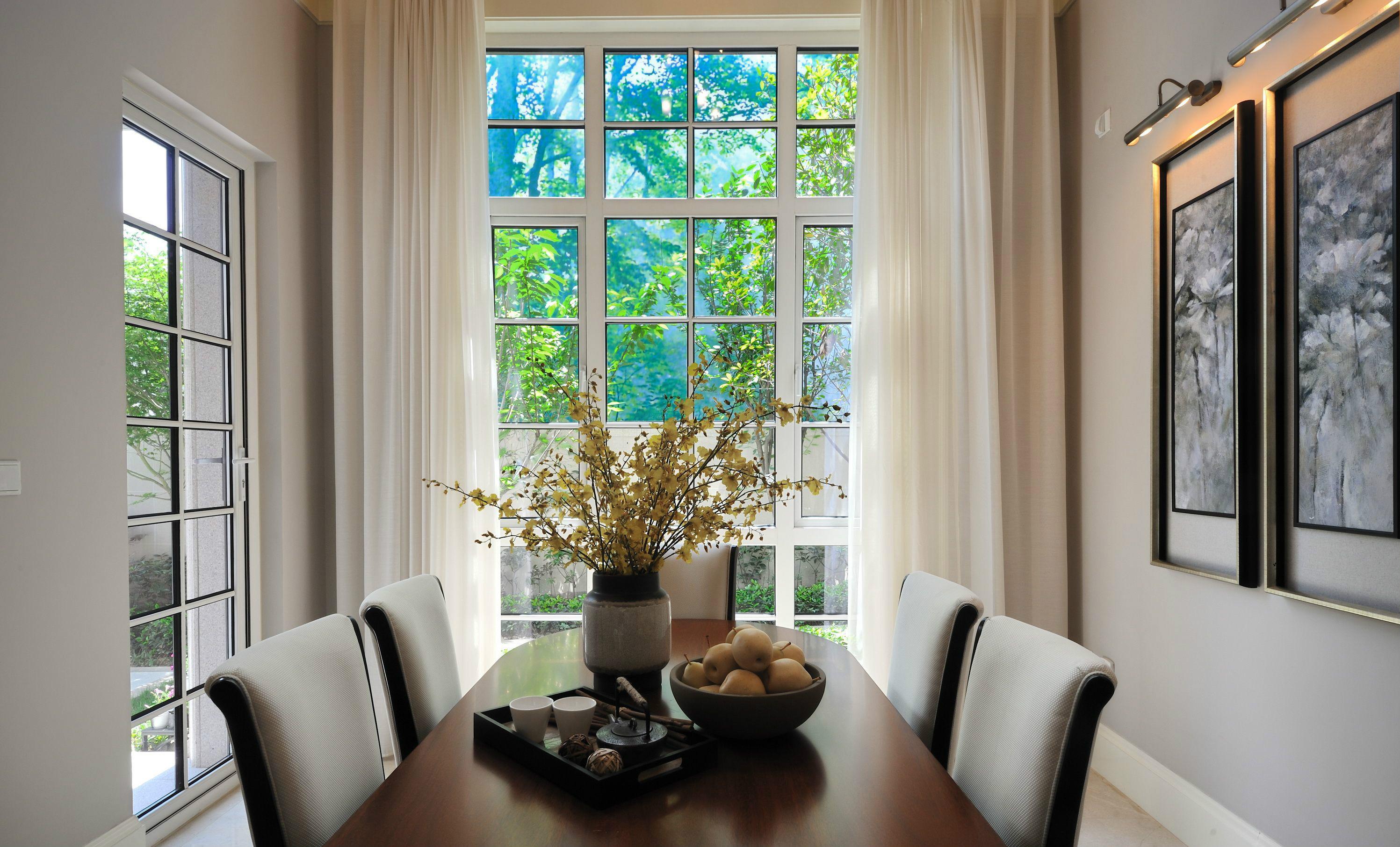 别墅装修 别墅设计 紫禁壹号院 美式风格 联排别墅 别墅 餐厅图片来自北京高度国际在联排别墅优雅美式风格的分享