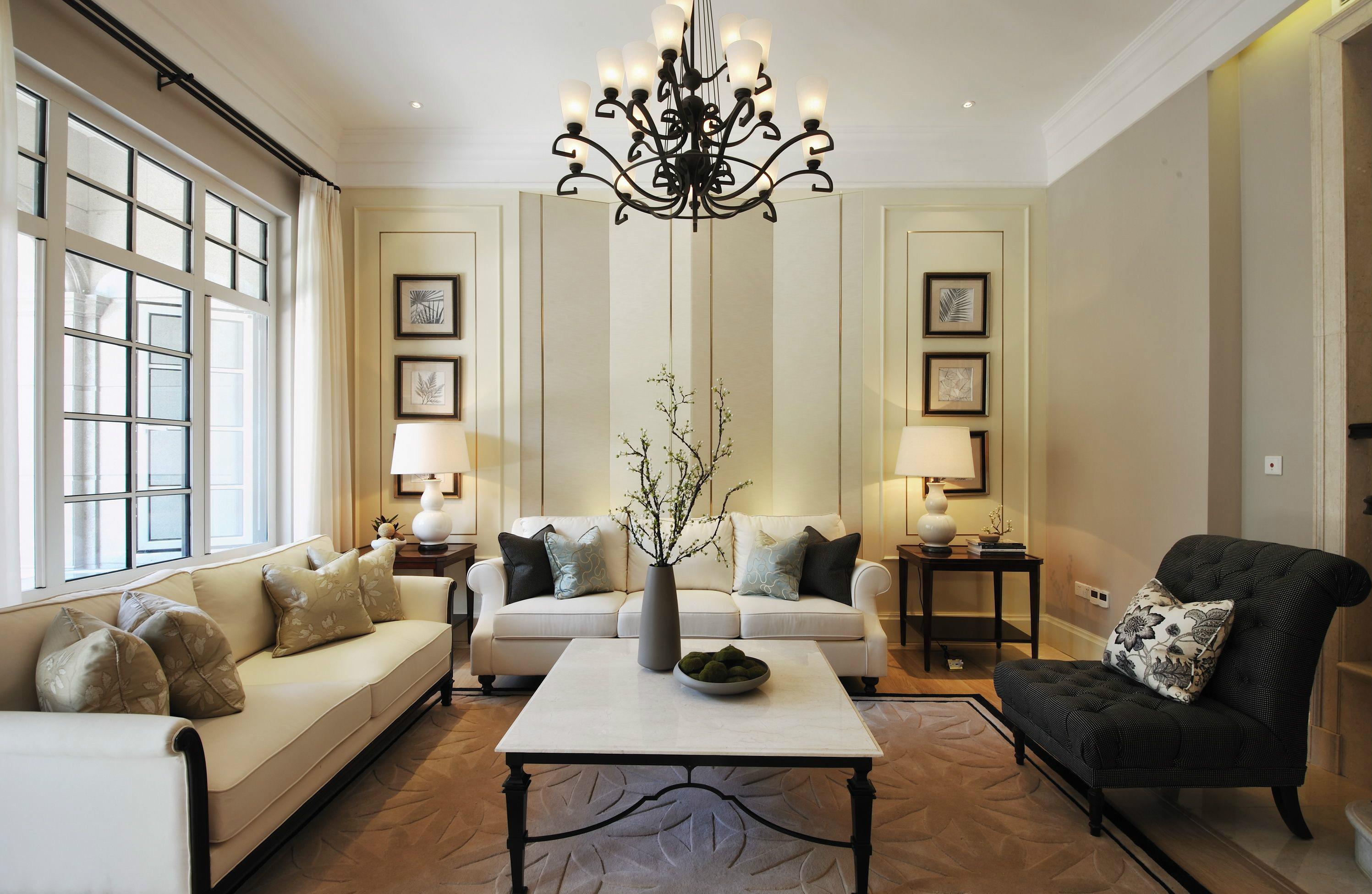 别墅装修 别墅设计 紫禁壹号院 美式风格 联排别墅 别墅 客厅图片来自北京高度国际在联排别墅优雅美式风格的分享
