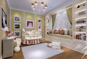 别墅装修 别墅设计 新古典风格 别墅 儿童房图片来自北京高度国际在华研国水岸际--时尚古典联排别墅的分享
