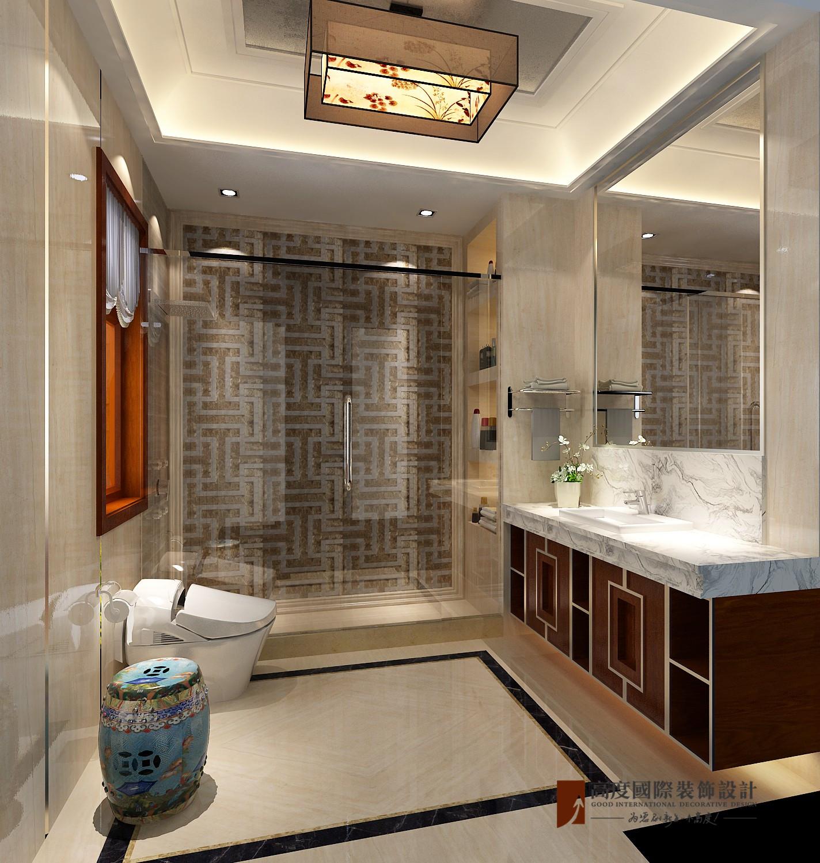 中式 别墅 跃层 复式 大户型 小资 北京院子 卫生间图片来自高度国际姚吉智在北京院子500平米中式独院的分享