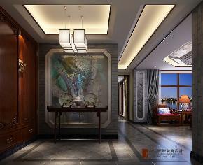中式 别墅 跃层 复式 大户型 小资 北京院子 玄关图片来自高度国际姚吉智在北京院子500平米中式独院的分享