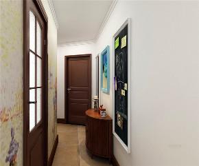 收纳 80后 二居 玄关图片来自阳光力天装饰在【力天装饰】龙湖公寓 80㎡ 美式的分享
