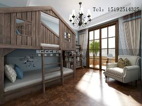 金秋 泰和郡 新古典 别墅 儿童房图片来自实创装饰小彩在金秋泰和郡318平新古典美式混搭的分享