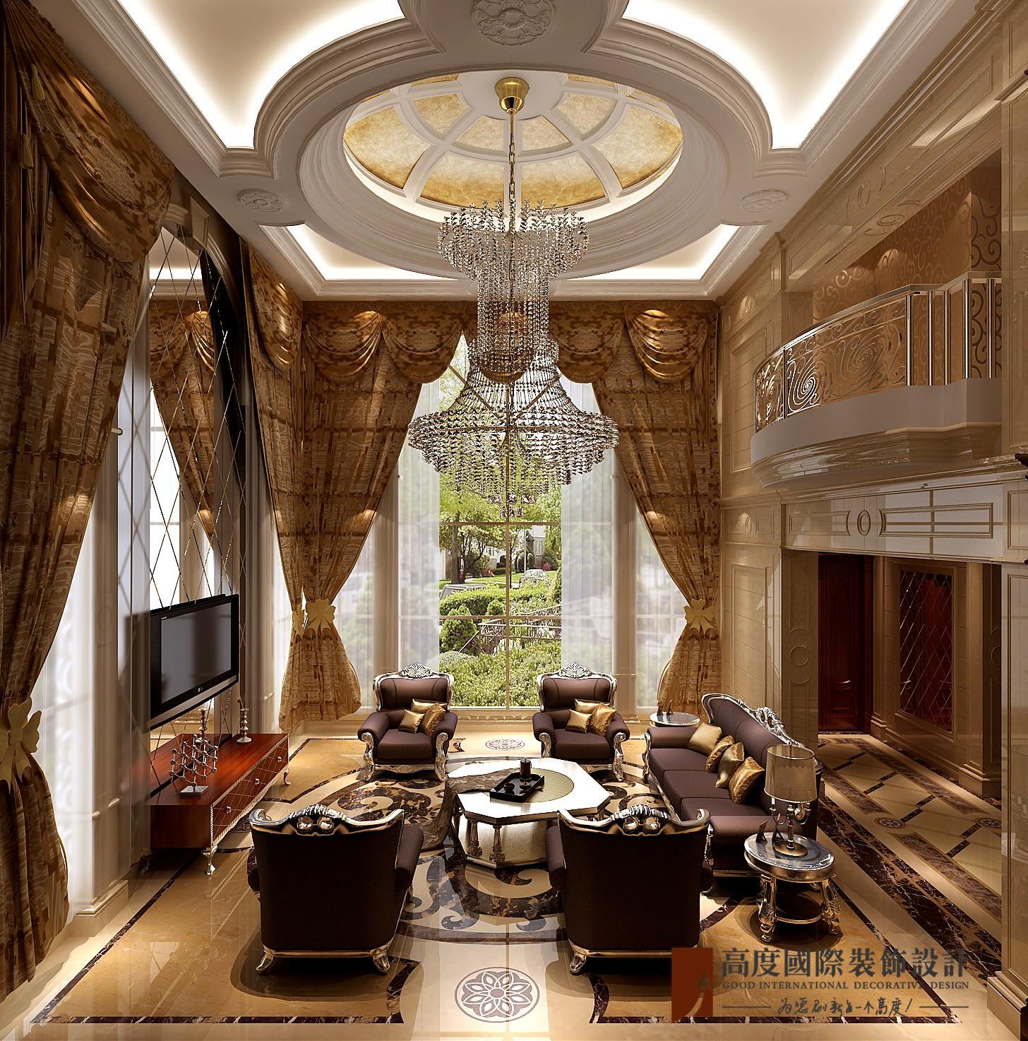 新古典别墅复式跃层大户型小资欧式客厅图片