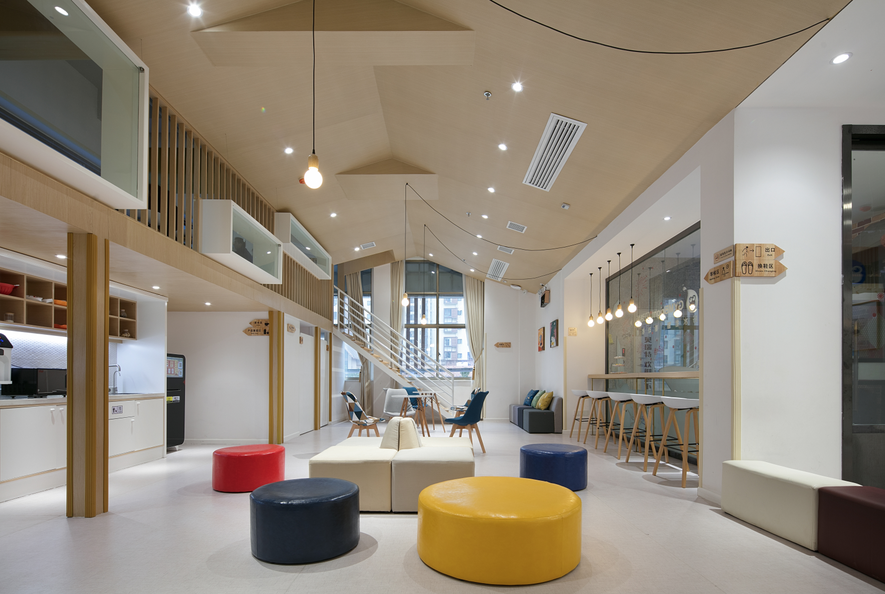 商业空间 店面装修 装修设计 长沙装修图片来自东联商业设计在长沙500㎡早教中心设计+装修的分享