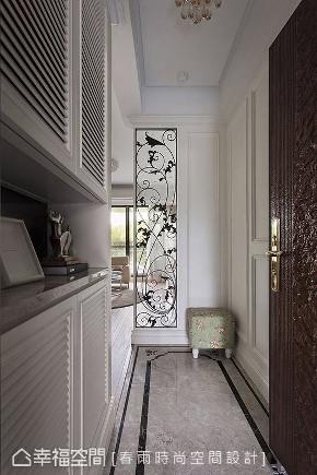 美式 装修风格 装修设计 玄关图片来自幸福空间在99平,温暖轻美式 养老乐活宅的分享