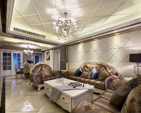 欧式 三居 大户型 复式 跃层 小资 80后 客厅图片来自高度国际姚吉智在135平米欧式三居室生活的恩典的分享