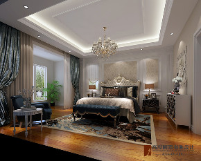 混搭 别墅 跃层 复式 大户型 80后 小资 卧室图片来自高度国际姚吉智在八达岭孔雀城300平米混搭风格的分享