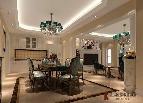 混搭 别墅 跃层 复式 大户型 80后 小资 餐厅图片来自高度国际姚吉智在八达岭孔雀城300平米混搭风格的分享