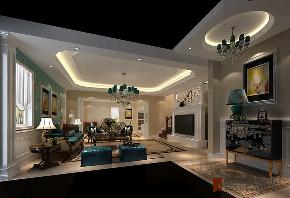 混搭 别墅 跃层 复式 大户型 80后 小资 客厅图片来自高度国际姚吉智在八达岭孔雀城300平米混搭风格的分享
