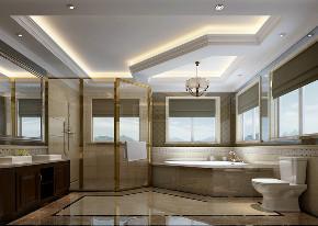 卫生间图片来自北京高度国际在格拉斯小镇---恬静美式的分享