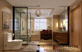 卫生间图片来自北京高度国际在牛驼温泉孔雀城--古色生香中式风的分享