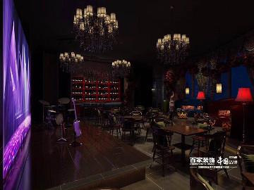 金地琥珀天地200平酒吧设计