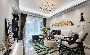 客厅图片来自家装大管家在105平现代简约风格 别有一番格调的分享