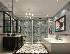 卫生间图片来自北京高度国际在双龙原著--300平米欧式风格的分享