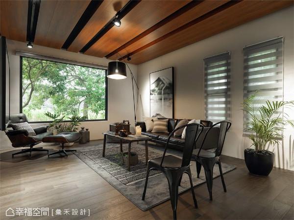 窗景空间 打造公领域中的绝佳窗景,让屋主充分感受住宅与户外绿意的静谧之美。