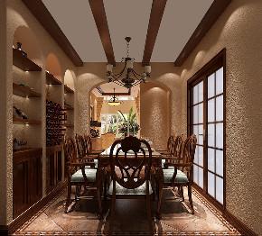 餐厅图片来自北京高度国际在潮白河孔雀城190平米美式田园的分享