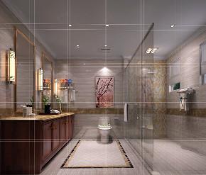 卫生间图片来自北京高度国际在文安别墅--313平米中式风格的分享