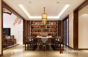 中式 别墅 跃层 复式 大户型 80后 小资 餐厅图片来自高度国际姚吉智在首创国际半岛320平米新中式别墅的分享