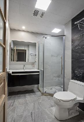 卫生间图片来自家装大管家在北之轻语 92平现代北欧原木3居的分享