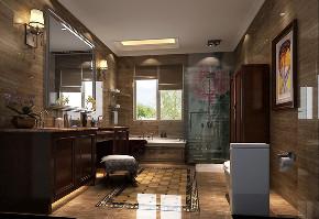 卫生间图片来自北京高度国际在西山壹号院--平层新中式的分享