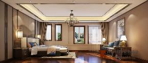 中式 别墅 跃层 复式 大户型 80后 小资 卧室图片来自高度国际姚吉智在首创国际半岛320平米新中式别墅的分享