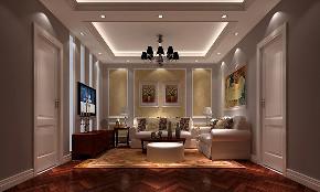 客厅图片来自北京高度国际在简约欧式--潮白河孔雀城的分享