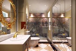卫生间图片来自北京高度国际在金科王府450平米奢华法式的分享