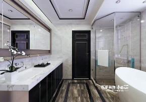 别墅 星河湾 新中式风格 卫生间图片来自百家设计小刘在星河湾245平新中式风格半包11万的分享