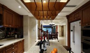 三居 厨房图片来自言白设计在中情西韵的分享