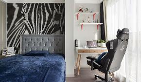 卧室图片来自家装大管家在清爽与慎重 135平摩登美式空间的分享