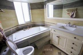 清新美式 三居 小资 卫生间图片来自成都装修找龙发在洛森堡小美式的分享