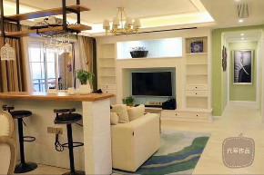 清新美式 三居 小资 客厅图片来自成都装修找龙发在洛森堡小美式的分享