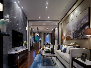 万科·城市之光三室131平现代风格