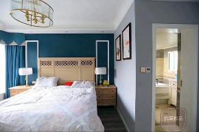 清新美式 三居 小资 卧室图片来自成都装修找龙发在洛森堡小美式的分享