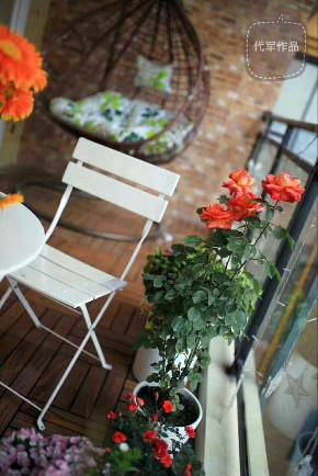 清新美式 三居 小资 阳台图片来自成都装修找龙发在洛森堡小美式的分享