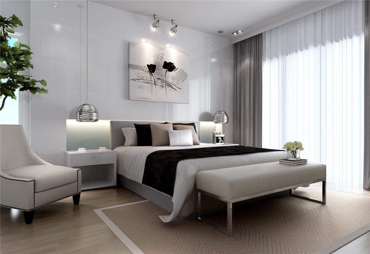 长岛别墅 别墅装修 现代风格 腾龙设计 刁振瑛作品 卧室图片来自孔继民在长岛别墅项目装修现代风格设计的分享